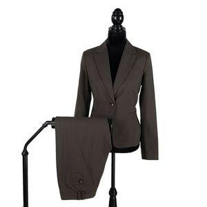 Banana Republic 2pc Brown Suit  sz 4 Pants 6P